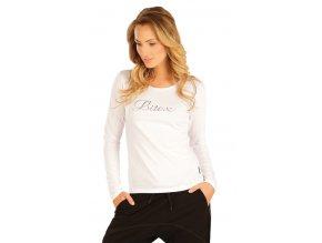 Bílé triko s dlouhým rukávem Litex 51218