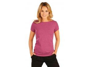 Dámské bavlněné triko s krátkým rukávem Litex 90330 bordó