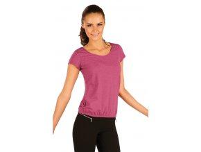Bavlněné tričko dámské s krátkým rukávem Litex 90331 bordó