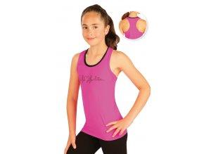 Dívčí sportovní tílko růžové Litex 51451 Na Cvíčo