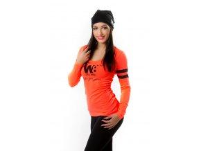 Sportovní triko s dlouhým rukávem oranžové W8 Zara