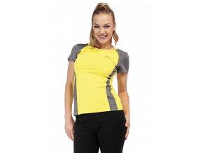Žluté dámské sportovní tričko Draps 67 1