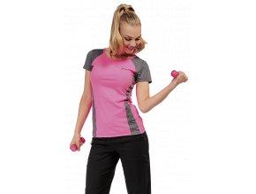 Růžovo šedé sportovní tričko Draps 67 1