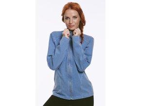 Modrá dámská bunda Draps chamois 634 n 1