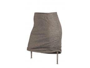 Sportovní sukně bavlněná šedá Litex 54104
