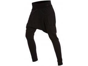 Černé kalhoty s nízkým sedem Litex 54226