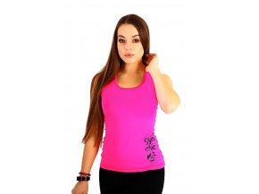 Růžový sportovní top Gym Chic pink 2skin Na Cvíčo 1