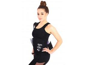 Černý sportovní top Gym Chic black 2skin Na Cvíčo 1