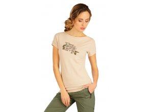 Béžové triko s krátkým rukávem Litex 50168 Na Cvíčo
