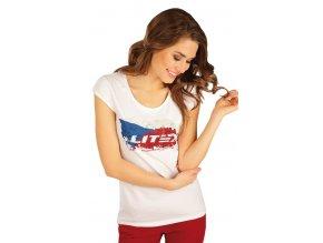 Dámské tričko s českou vlajkou Litex 50159