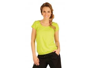 Zelené triko s nabraným spodním okrajem Litex 50161