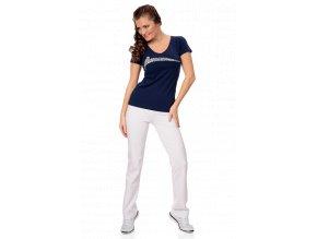 Bílé bavlněné sportovní kalhoty dámské Draps Na Cvíčo 1