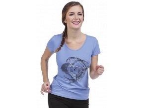 Dámské sportovní tričko modré Draps 44 Na Cvíčo 1