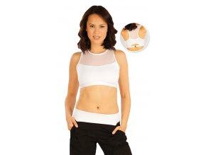 Bílý krátký fitness top se síťovinou Litex 51199 Na Cvíčo