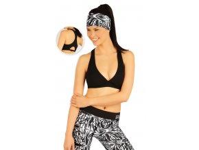 Krátký černý fitness top Litex 51202 Na Cvíčo