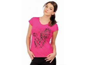 Růžové sportovní tričko bavlněné Draps 69 1
