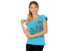 Bavlněné sportovní tričko draps 69 akvamarínové 1