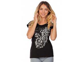 Černé sportovní tričko bavlněné Draps 69 1