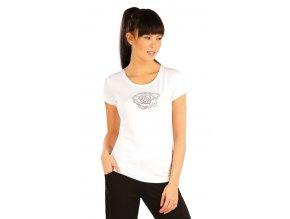 Bílé triko dámské s krátkými rukávy bavlněné Litex 54128