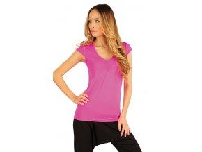 Růžové sportovní tričko s řasením Litex 54242 Na Cvíčo