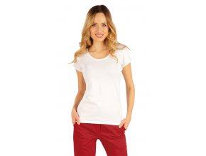 Bílé bavlněné dámské tričko Litex 54125