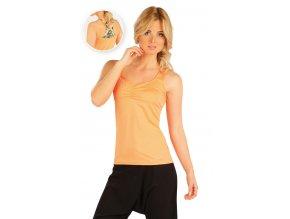 oranžové sportovní tílko dámské litex 54198