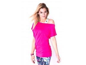 Taneční tričko růžové 2skin morgan 1