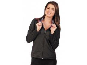 Černá bunda dámská Draps 628 1