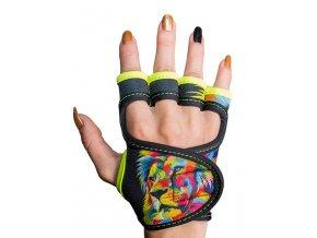 Fitness rukavice dámské s potiskem GlovBel Lion 1