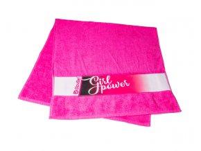 Růžový sportovní ručník Glovbel Na Cvíčo 1