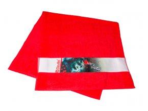 Červený sportovní ručník Glovbel Joker Na Cvíčo 1