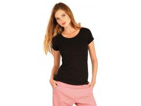 Černé bavlněné tričko dámské Litex 99591