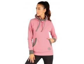 Růžová mikina fleece Litex 55198