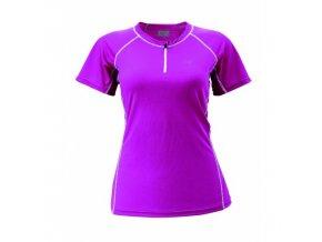 Dámské funkční triko AKKA (1/2 zip) fialová