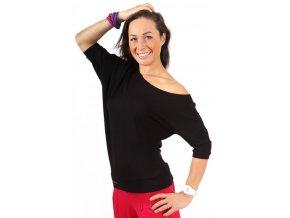 Taneční tričko Spontanic černé Na Cvíčo 1