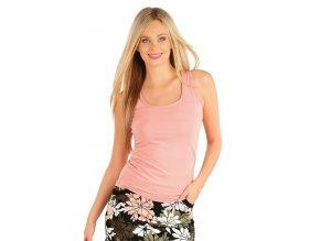 Růžové bavlněné tílko Litex 58160 Na Cvíčo