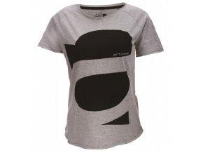 APELVIKEN - dámské triko s kr.rukávem - šedé melange