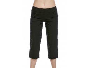 Volnější funkční dámské kalhoty Draps 253 černé 1