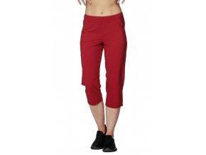 Volnější funkční dámské kalhoty Draps 253 červené 1