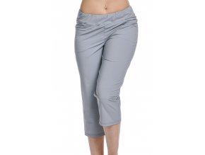 Volnější funkční dámské kalhoty Draps 253 šedé 1