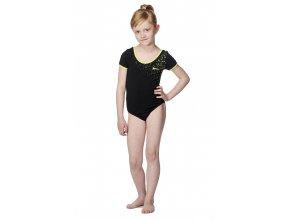 Černý dívčí dres bavlněný s potiskem Draps 505 Na Cvíčo 1
