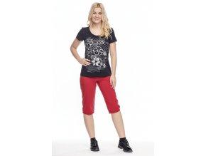Dámské funkční červené 3 4 kalhoty Draps 289 1