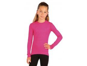 Růžové dívčí termotriko litex 60160