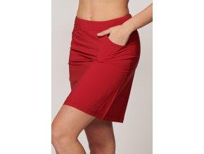 Červená sportovní sukně fukční Draps 113 4