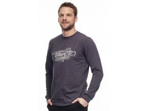 DR455GY pánská tričko dlouhý rukáv