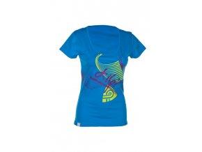 KILPI Dámské sportovní tričko EVANSA MODRÁ