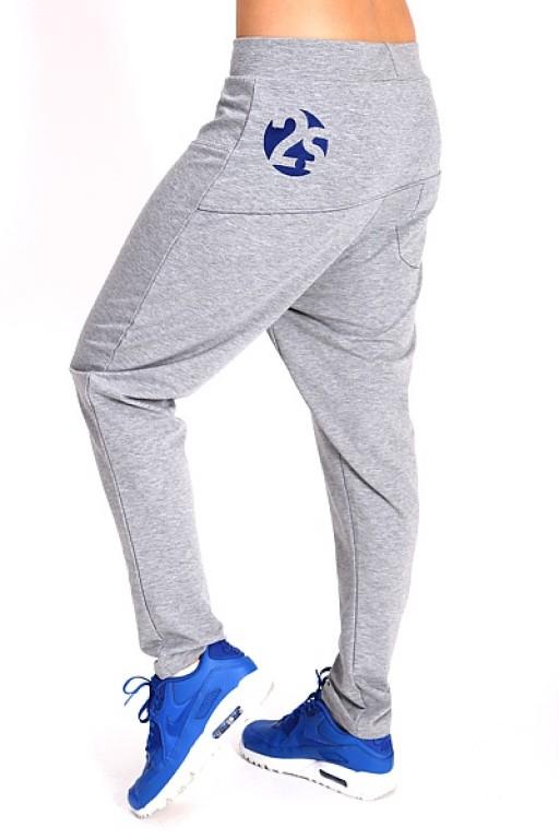 Dámské kalhoty se sníženým sedem 2skin Chrome grey Velikost: S
