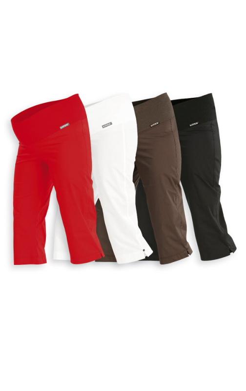 LITEX Kalhoty těhotenské v 3/4 délce 99527 - červené Velikost: S