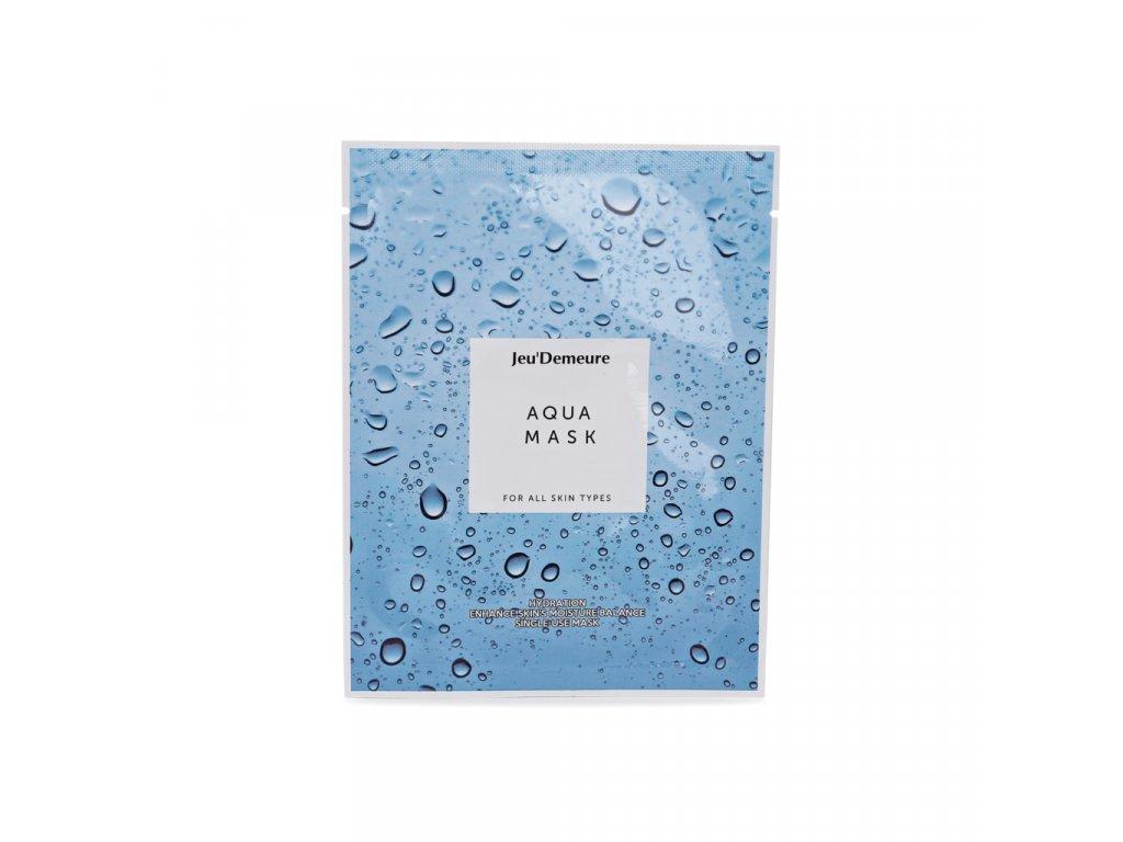 JEU'DEMEURE Aqua Mask - hydratační plátýnková pleťová maska 25g/1ks