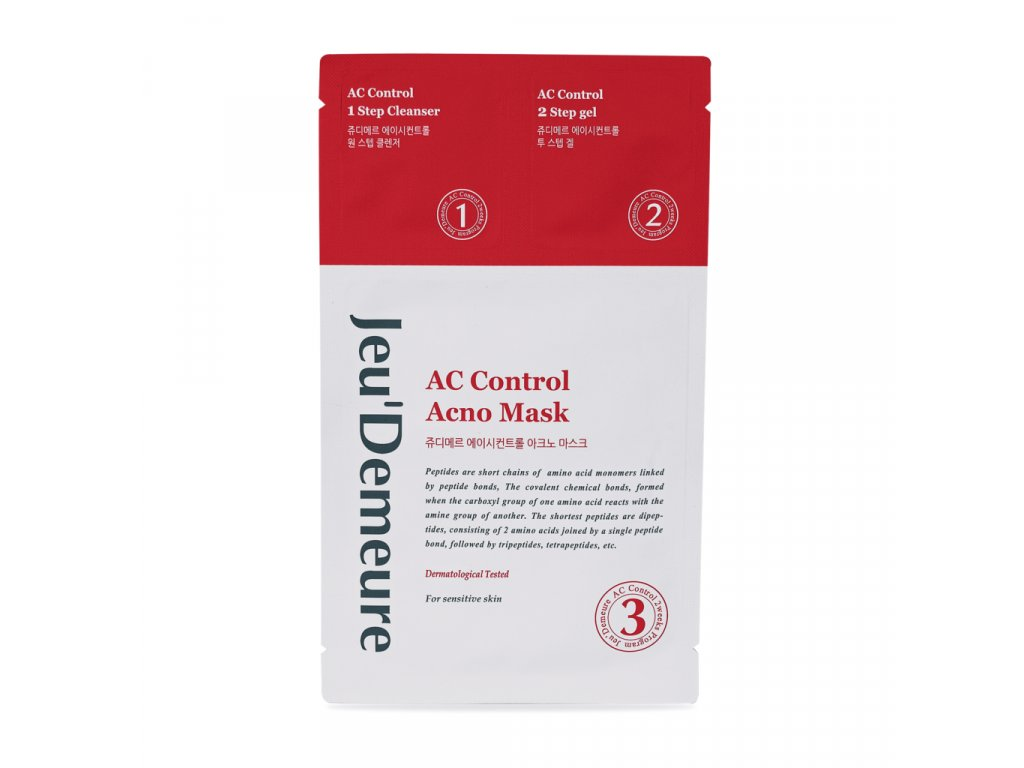 Jeu'Demeure AC Control Pleťová textilní maska s čistící emulzí a ochranným gelem (1 ks)